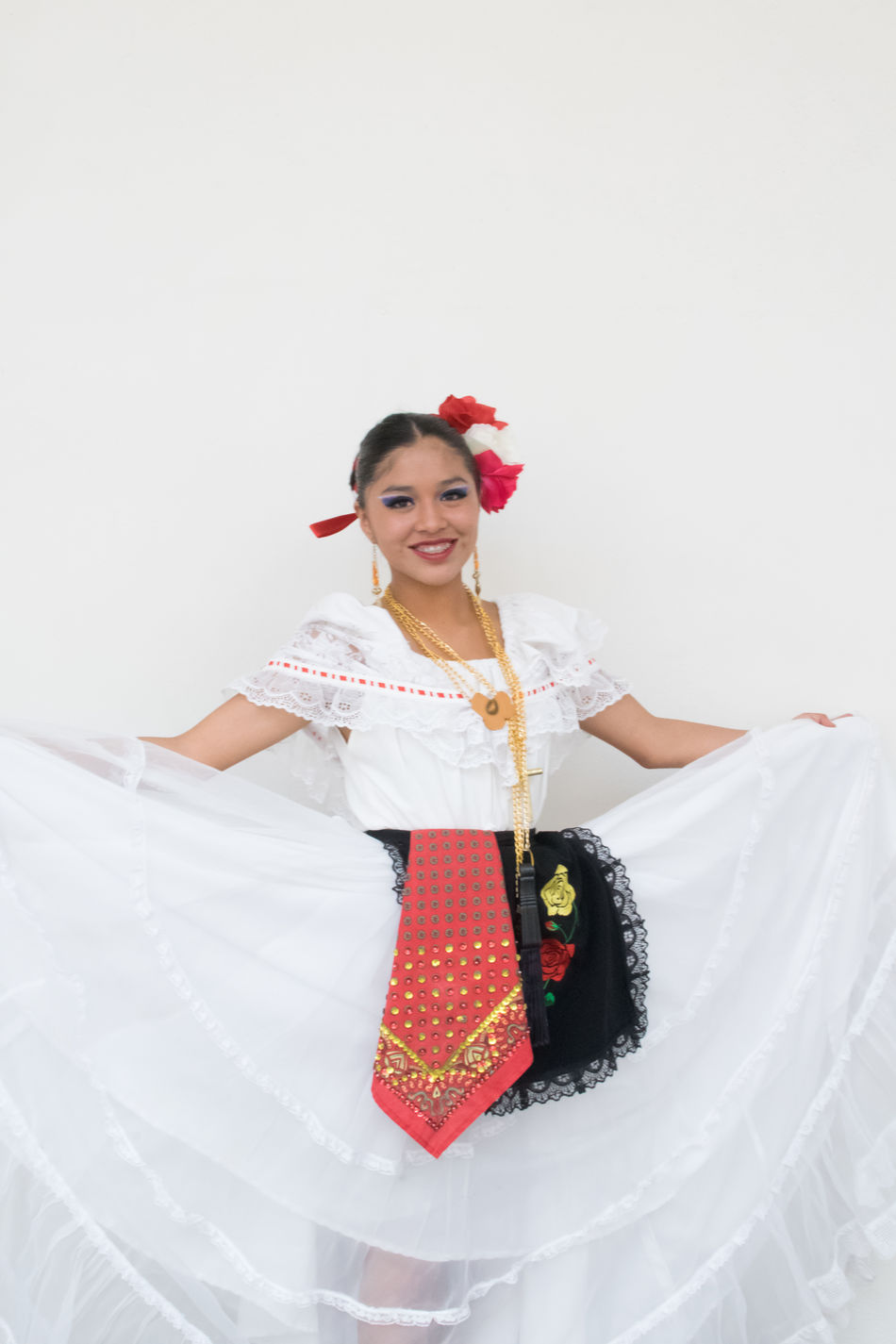 Beautiful Woman Front View Full Length Happiness Jarocho Life Events Lifestyles Looking At Camera One Person People Portrait Real People Smiling Son Jarocho Standing Studio Shot Toothy Smile Traditional Clothing Verano Young Adult Young Women
