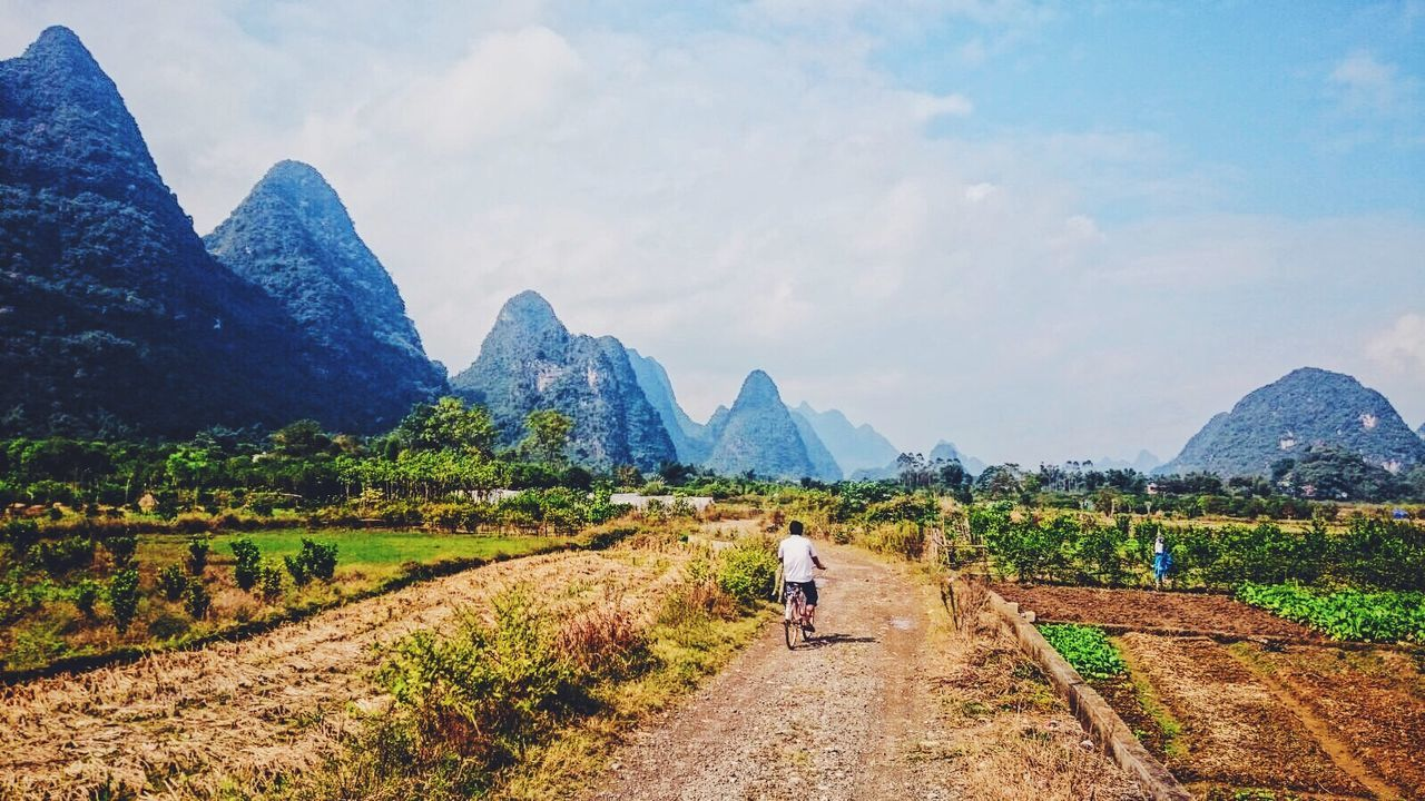 Streetphotography China Bicycle Landscape VSCO Enjoying Life Nature Photography Beauty In Nature Life Streetphoto_color Mountains Enjoying The View Traveling In China Street Nature_collection Outdoors Nature Still Life Landscapes With WhiteWall