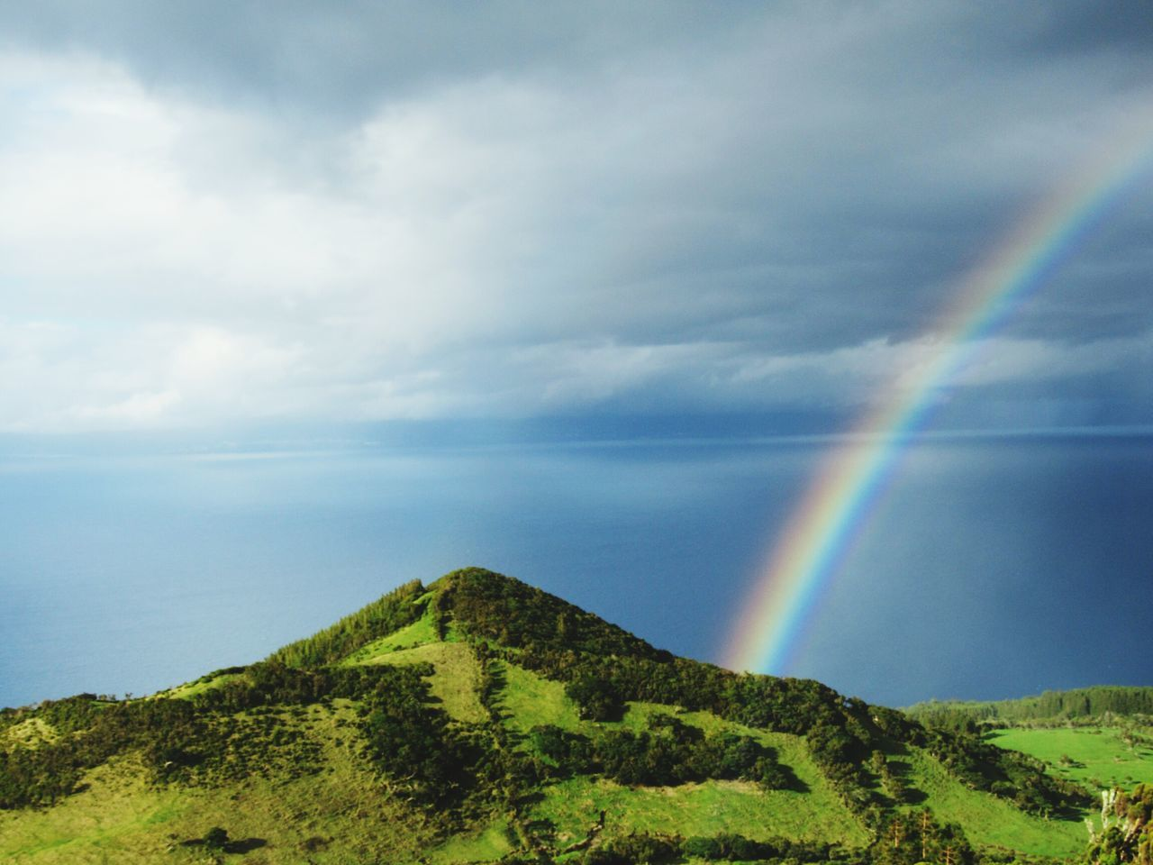 Pico Azores Mountain beautiful Landscape No People Rain Nature Cloud - Sky Scenics Outdoors Tree Agriculture Day Sky Beauty In Nature