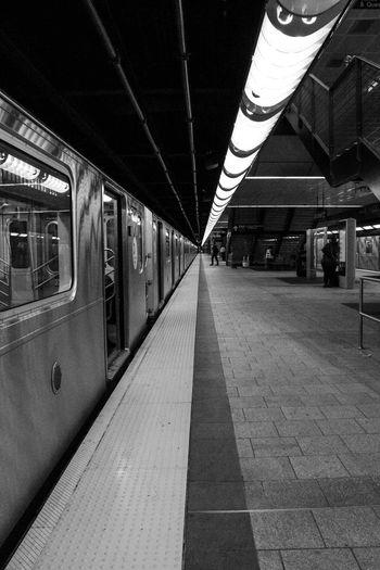 Transportation Public Transportation Rail Transportation Railroad Station Platform Railroad Station Train - Vehicle No People Indoors  Subway Train Day