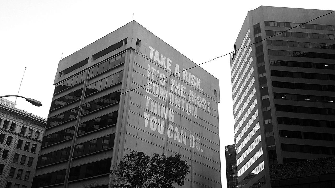 Needed to expand into more urban shots and keep a balance of nature and man made wonders. Urban Followme Smalltown Keepitdowntown Yeg Edmonton Hello World Blackandwhite Quote Sign Inspriration Spreadlove Somethingnew Eye Em Around The World Battle Of The Cities Lifestyles Personal Perspective EyeEm Best Shots - Architecture