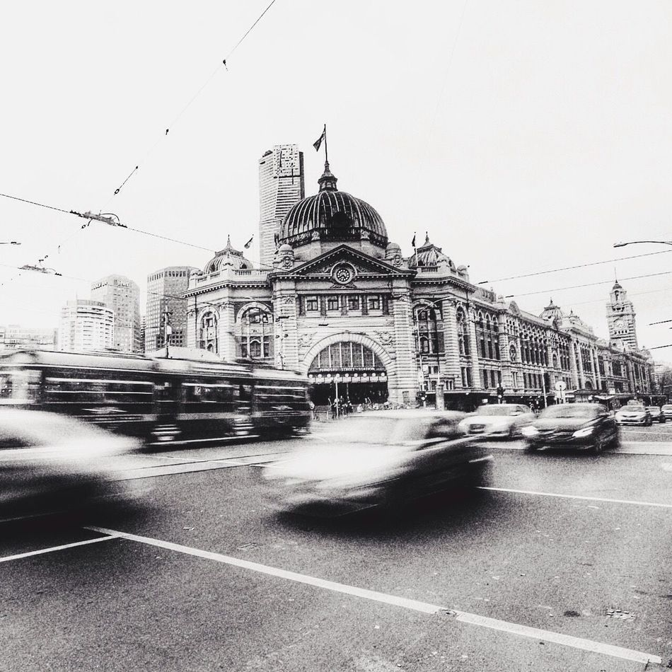 Flinders Street Station Flinders St #Melbourne Blackandwhite Panningphotography Landscape City Life Canonphotography Canoncollective Streetphotography Streetscene Canon 70d