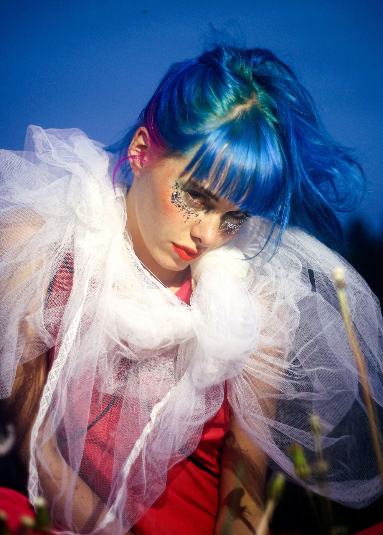 80's flirt. Young Women Beautiful Woman Tutu BlueHair Portrait Eighties Sonyalpha Sonyalpha7ii Sweden Norrtälje