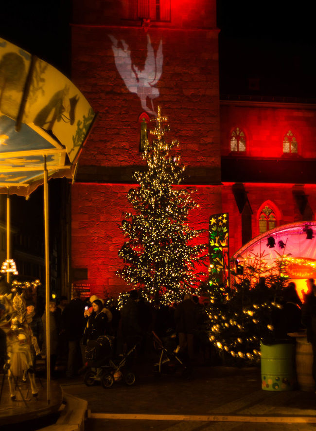 Architecture Built Structure Celebration Christmas Christmas Decoration Christmas Lights Christmas Market Christmas Ornament Christmas Tree Holiday - Event Illuminated Neustadt An Der Weinstraße Night No People Outdoors Palatine Red Tradition Tree