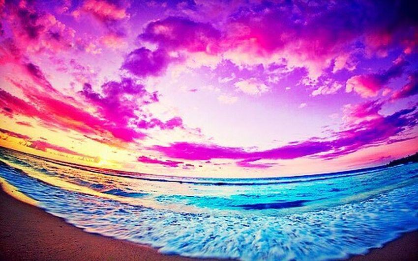 Beach Sunset Color Splash i love this pic amazing!!!!!