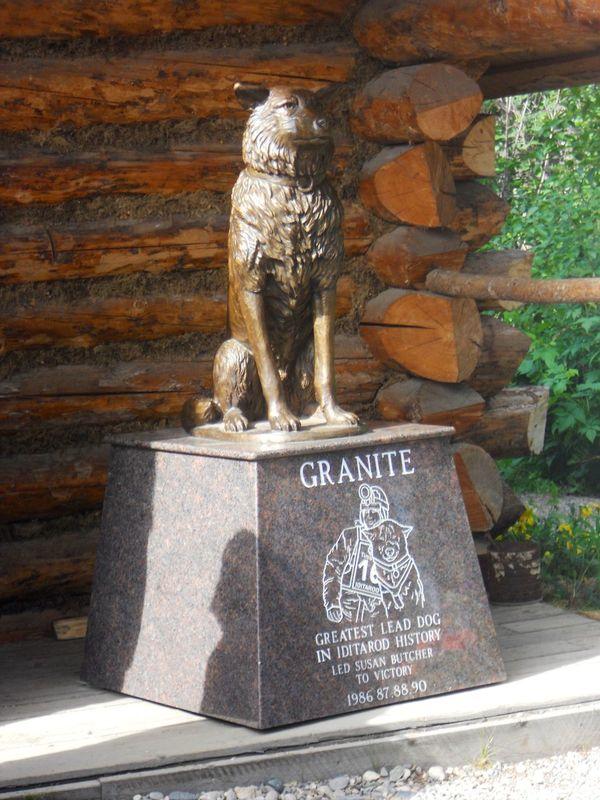 Granite Husky Iditarod Dog Race Outdoors Statue