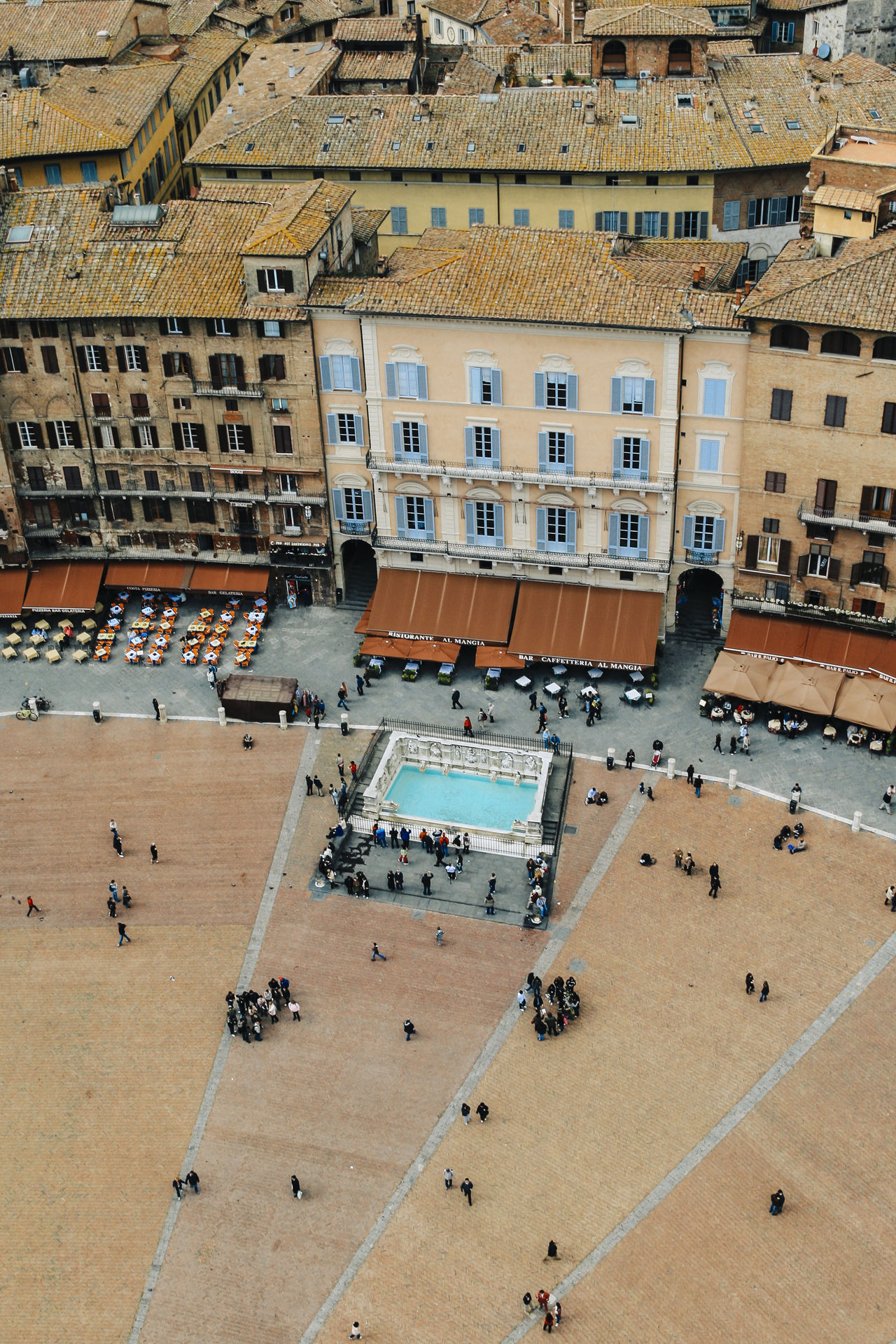 Overview of the Piazza del Campo, Siena, Tuscany, Italy Architecture Building Exterior Built Structure City City Life Crowd Day High Angle View In Front Of Italy Large Group Of People Piazza Del Campo Residential Structure Siena Togetherness Tourism Town Hall Town Square Travel Travel Destinations Tuscany Vacations