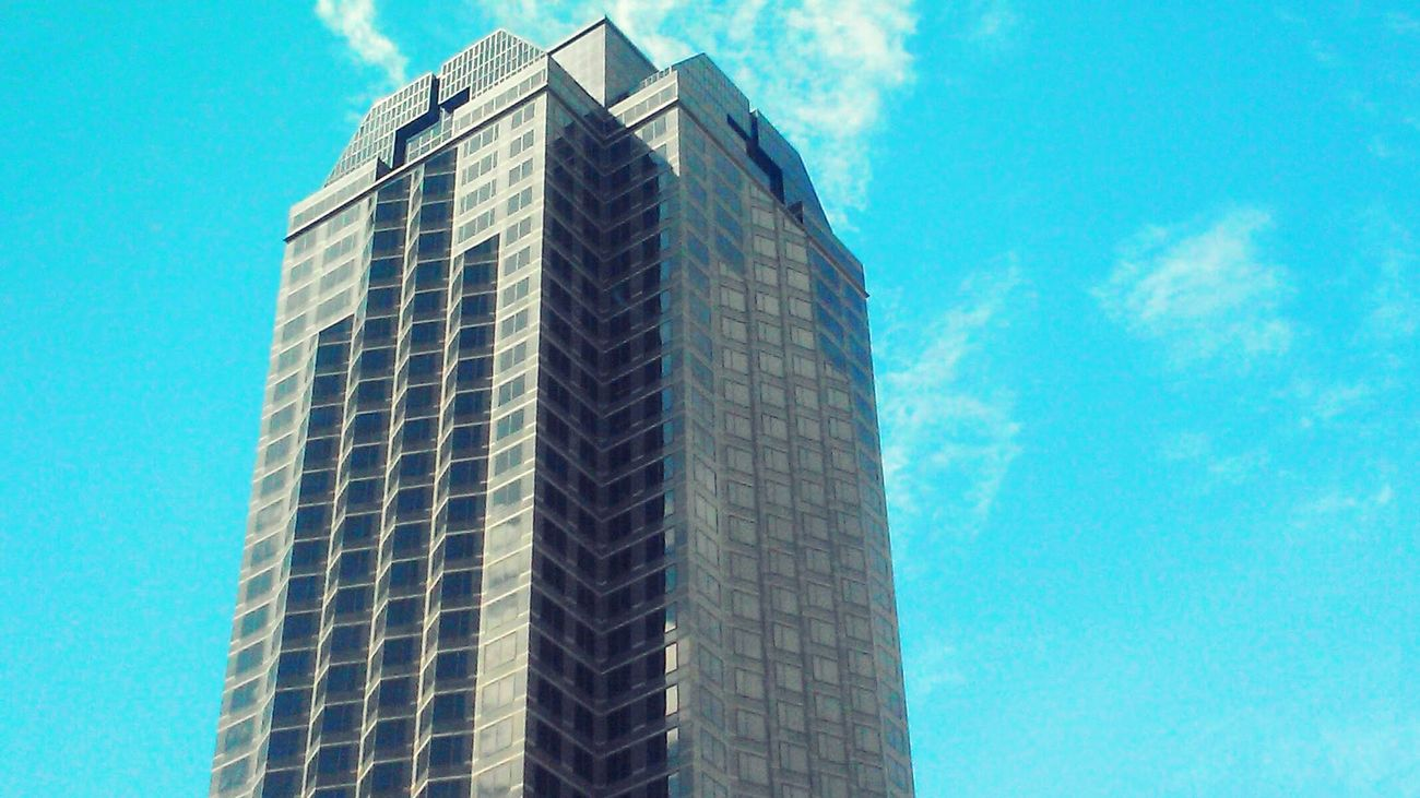 Sound Of Life Skyscraper Dallas Texas Sky And Clouds