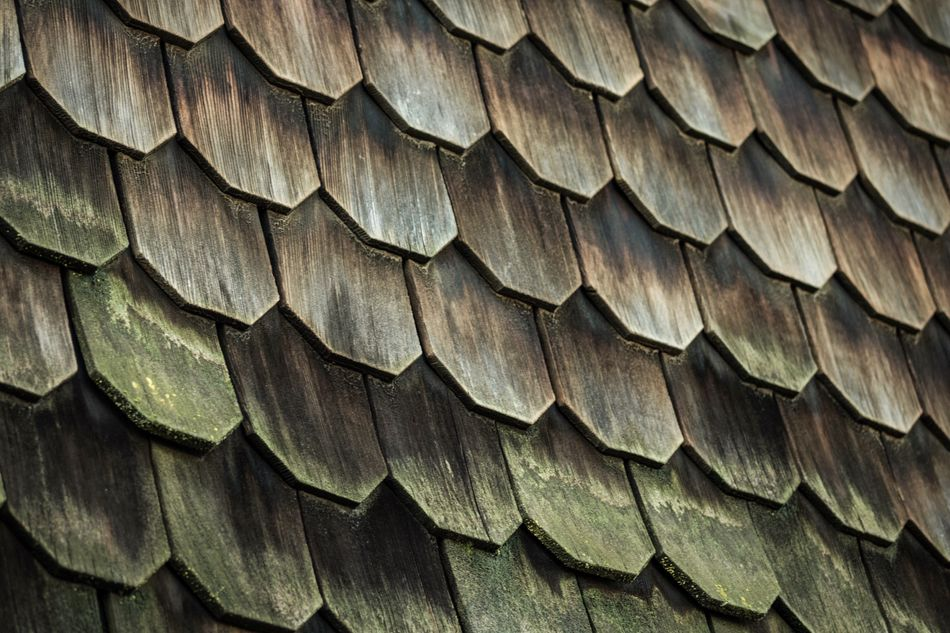 Full Frame Backgrounds Pattern Close-up Wood Shingles Rustic Rustic Style Old Buildings Texture Textures And Surfaces Moss Architecture Roseville, CA Artistic Photo Abstract
