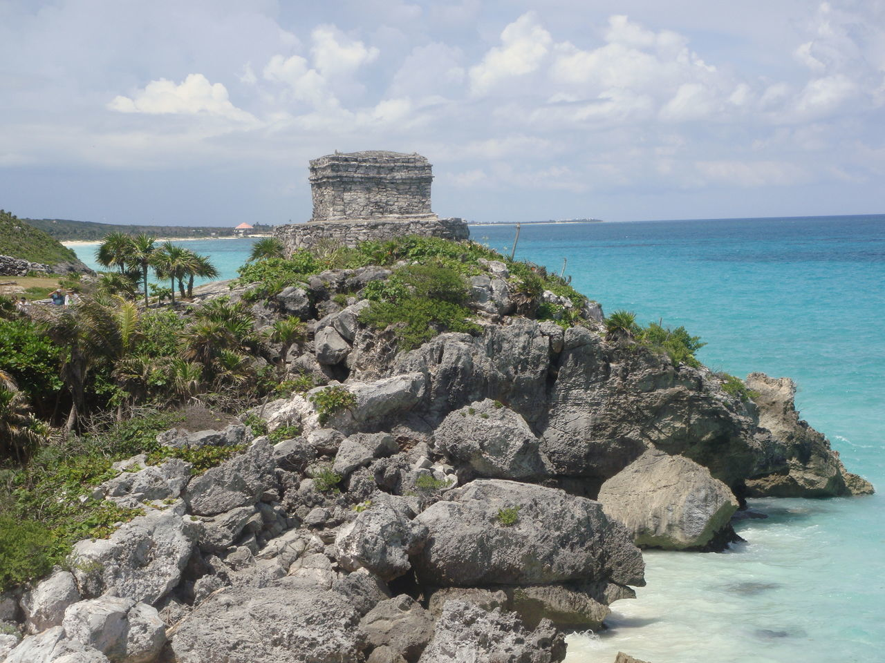 Sea Sky Beach Plant Cloud - Sky Archaeology Travel Destinations Water Horizon Over Water Outdoors No People Nature Day Mexico Tulum , Rivera Maya. Tulum Beach Tulum Ruins Tulum, Mexico Architecture
