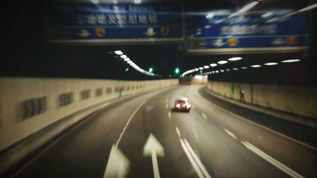 Street Photography Hong Kong Tunnel On The Way Home Transportation Speed