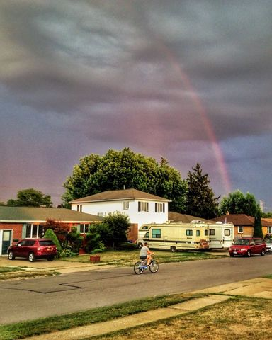 Somewhere, under the rainbow. Outdoors Sky And