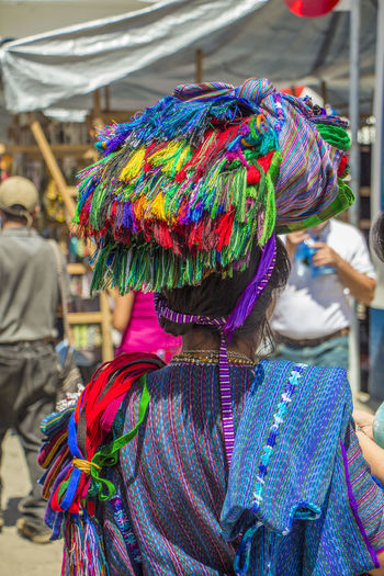 Artesana Guatemalteca. Close-up Craft Craft Woman Creativity Multi Colored One Person People Real People Traditional Clothing Woman