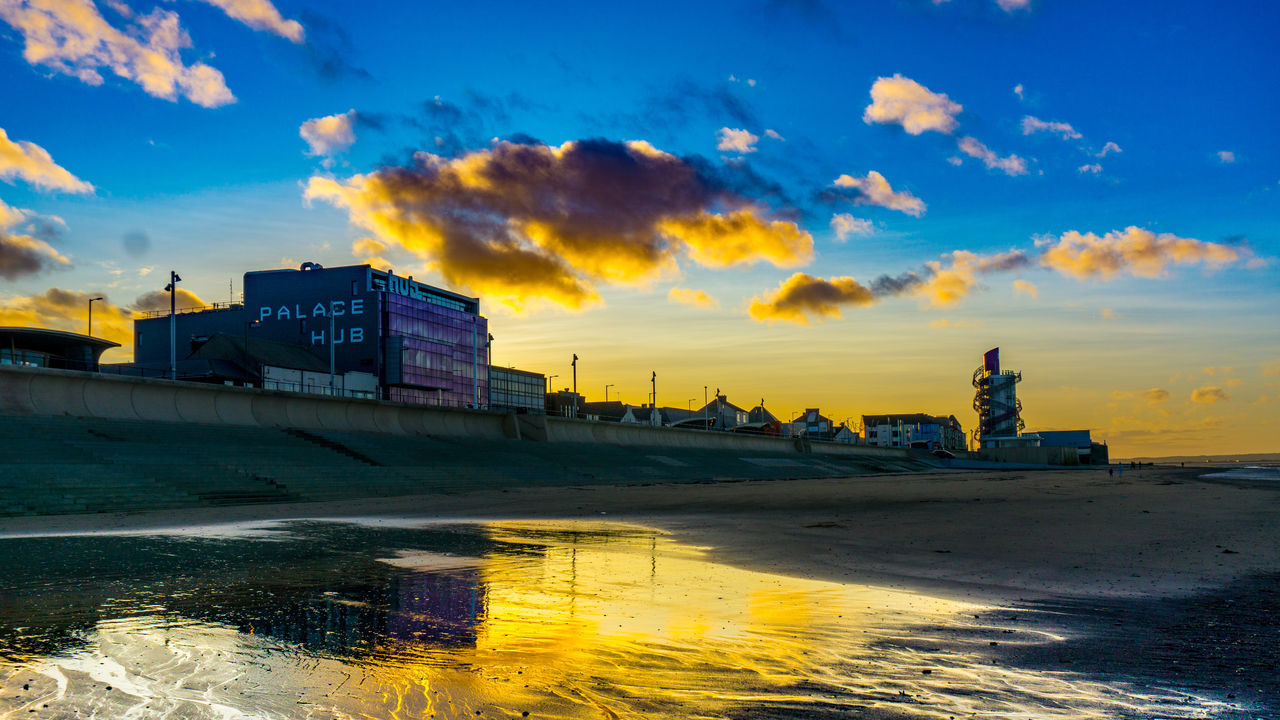Vertical pier at redcar Beach Photography Pier Quiet Reflection Yorkshire Architecture Beach Beachphotography Building Exterior Built Structure Cityscape Cloud - Sky Day England Modern Nature Outdoors Redcar Sea Sky Sunset The Hub Uk Water