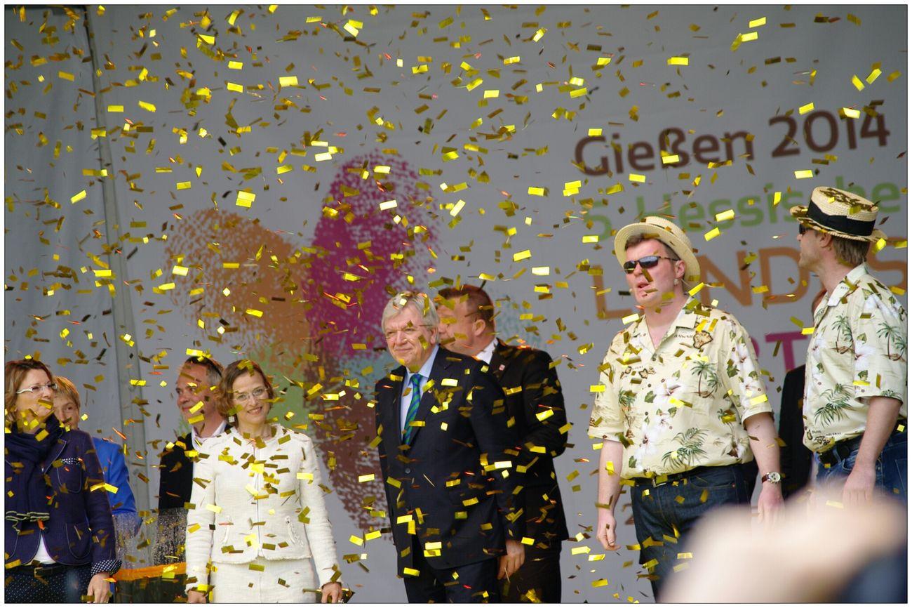 Landesgartenschau 2014 Eyem Best Shots Opening Event Hello World Die 5.Hessische Landesgartenschau in Gießen wurde durch den hessischen Ministerpräsident Volker Bouffier eröffnet. Hesse prime minister Volker Bouffier has the country garden show opened