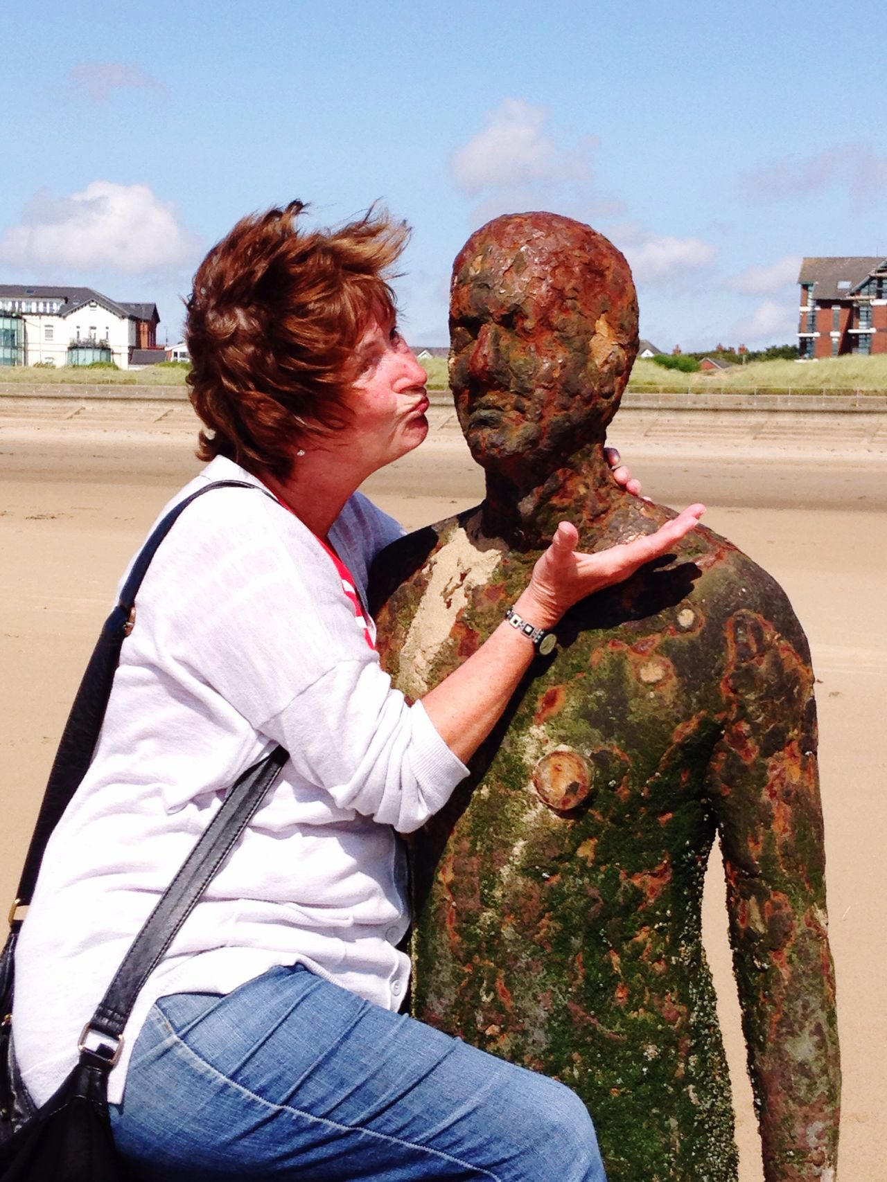 People And Places Crosby Beach Statue Fun England Beach Life Beach Photography Seaside