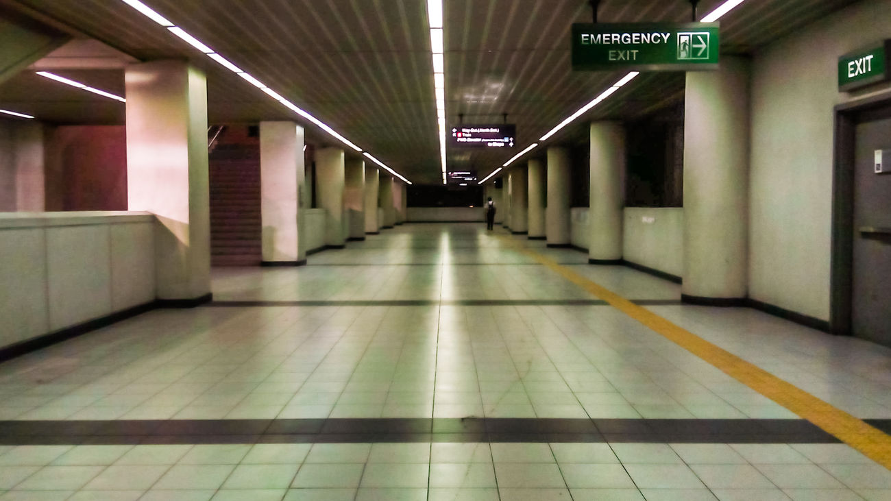 Eyeem Philippines Hallway Perspective Night Photography Architectural One Person Travel