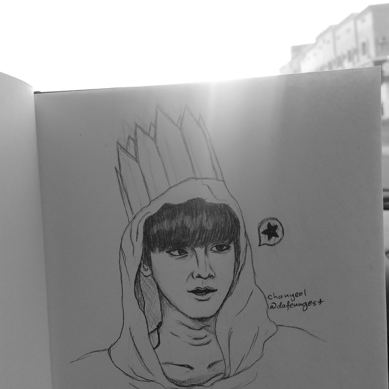 Sketch EXO Chanyeol Park Chanyeol Art Draw