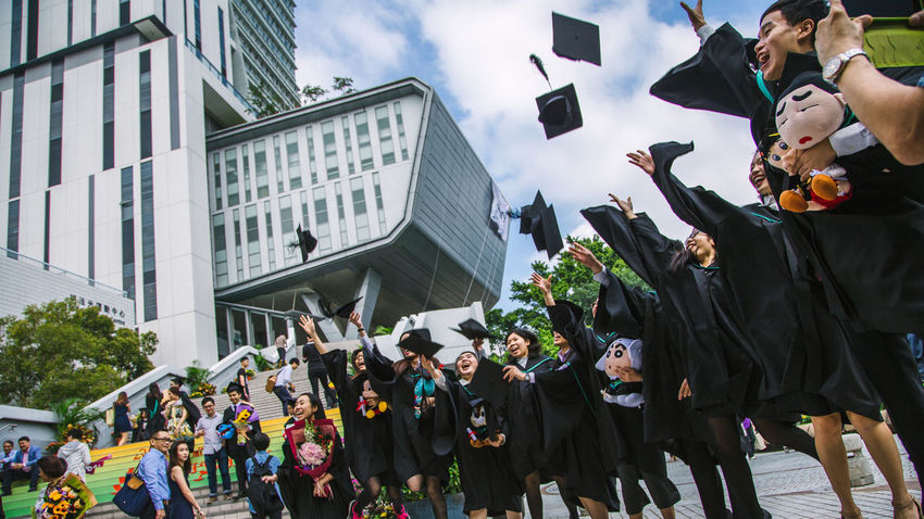 City University Of Hong Kon Cityu Decisive Moment Enjoyment Friendship Graduation2015 HongKong