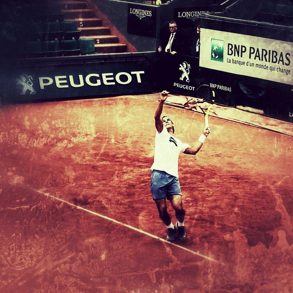 Tennis 🎾 Tenniscourt Tennis Player Rafa  Nadal ROLAND GARROS Clay Clay Courts Sports Photography Sports NumberOne Rafaelnadal