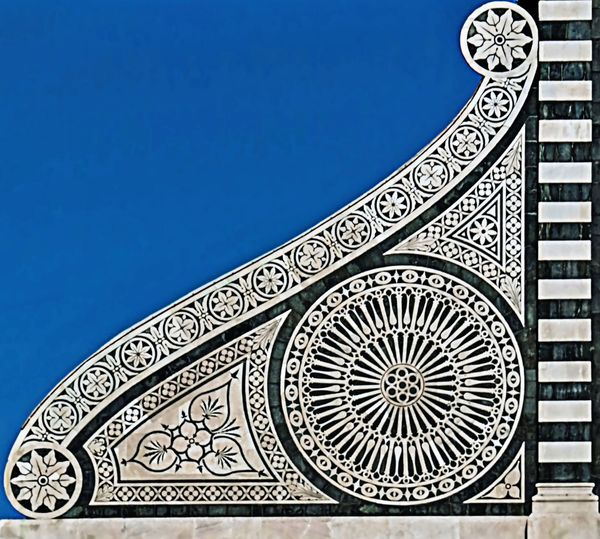 Santa Maria Novella , particolare Architecture Blu Background Blue Blue Sky Built Structure Church Close-up Marmor No People Outdoors Pattern Sky White Color