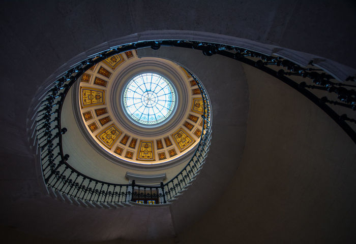 Architecture Built Structure Indoors  Low Angle View No People Staircase Staircase Vertigo Stairs