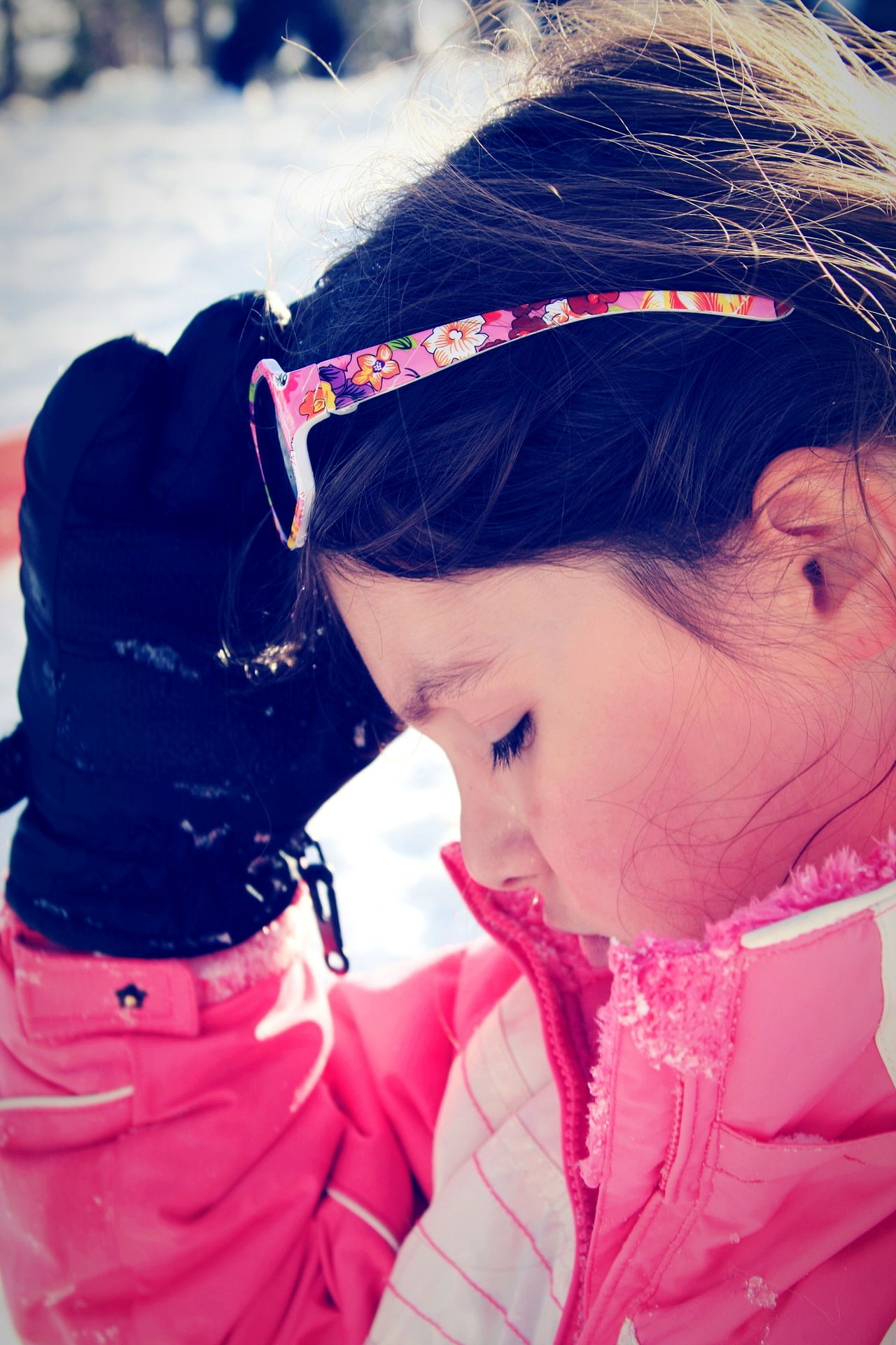 Snow Sports Child Outdoors Winter Portrait Day Beauty In Nature Enjoying Life Live, Love, Laugh Snow Day Sledding Fun Random Acts Of Photography One Person Childhood Close-up