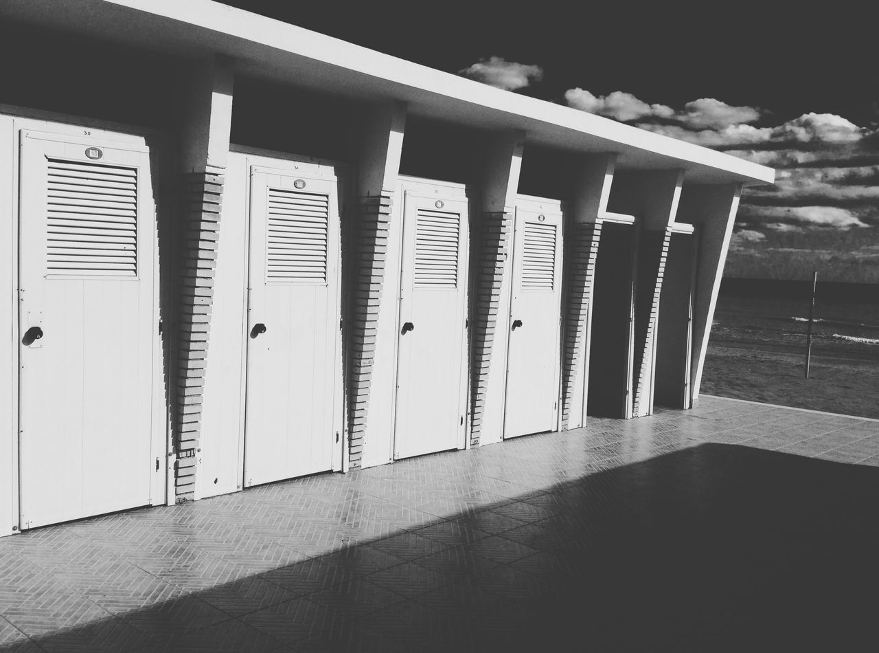 Locker Locker Room No People Day Blsckandwhite Sea Seascape Getting Inspired Outdoors White Sand Black Blackandwhite Lines Line... Prospective...