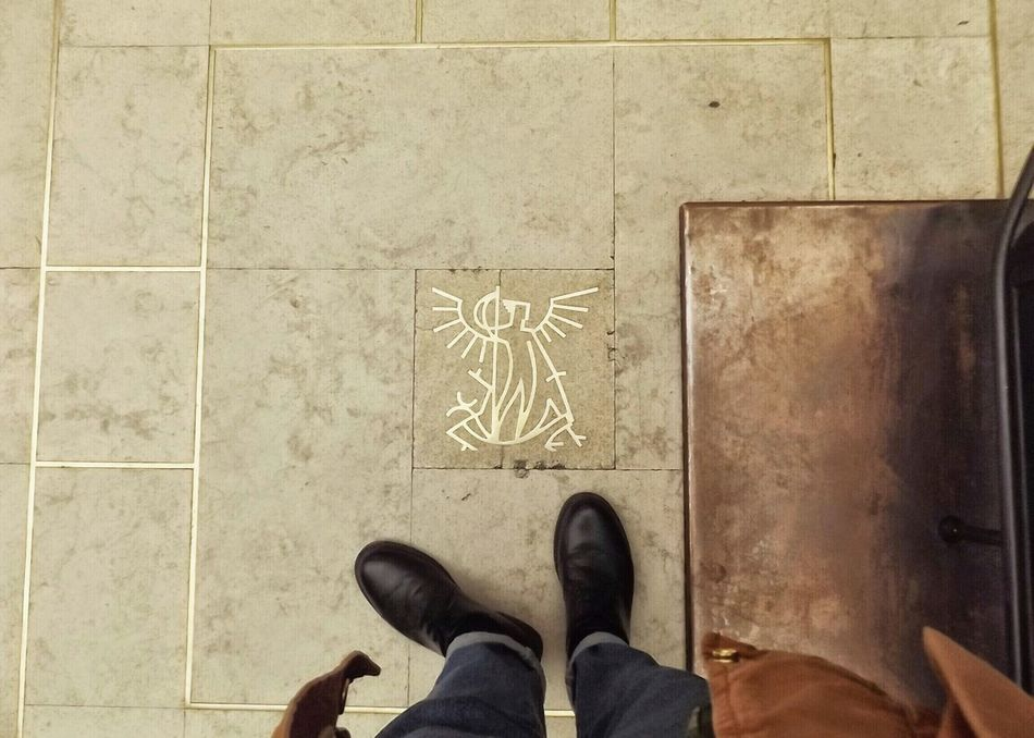 From My Point Of View Train Station On The Floor That's Me! Traveling Saint Michel Archange Enjoying Life Pillow