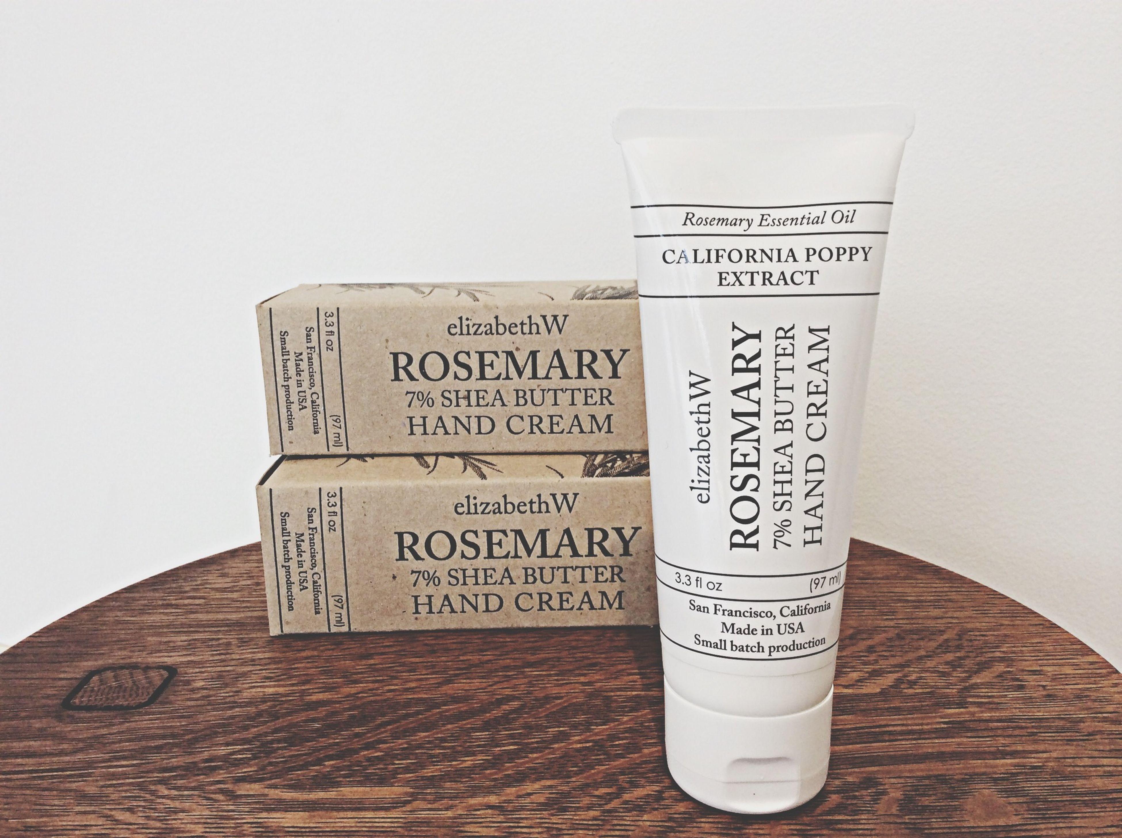 【 elizabeth W 】ローズマリーコレクション ハンドクリーム 97ml / ¥3,200+Tax :ローズマリーの清涼感ある香り。しっとりとしたつけ心地。 Elizabeth W Rosemary