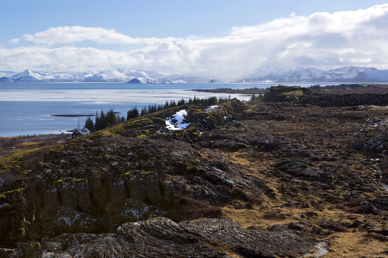 Beach Cloud - Sky Cultures Day Iceland Iceland Trip Landscape Mountain No People Outdoors Pingvallavatn Sea Sky Thingvellir National Park