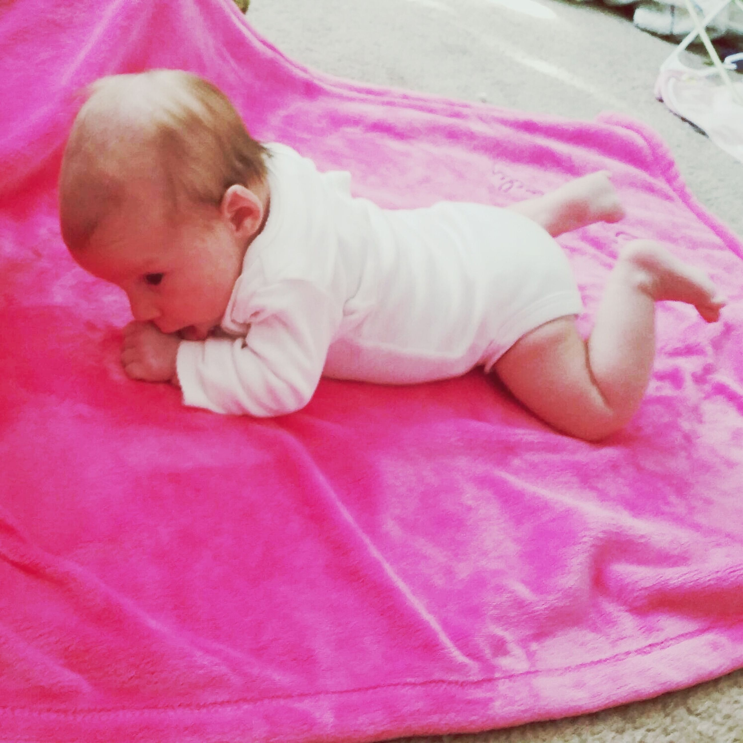 childhood, innocence, cute, baby, elementary age, toddler, babyhood, girls, person, high angle view, indoors, relaxation, pink color, lying down, bed, sleeping, boys, unknown gender