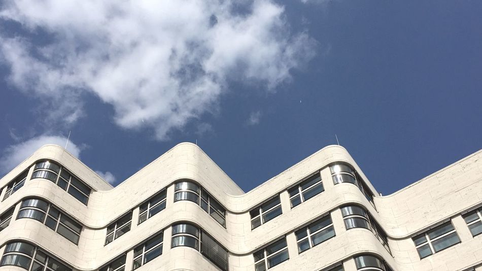 Architecture Building Exterior Low Angle View Day Sky City Lookingup Building Curves Window Streetphotography Architecture_collection Berlin