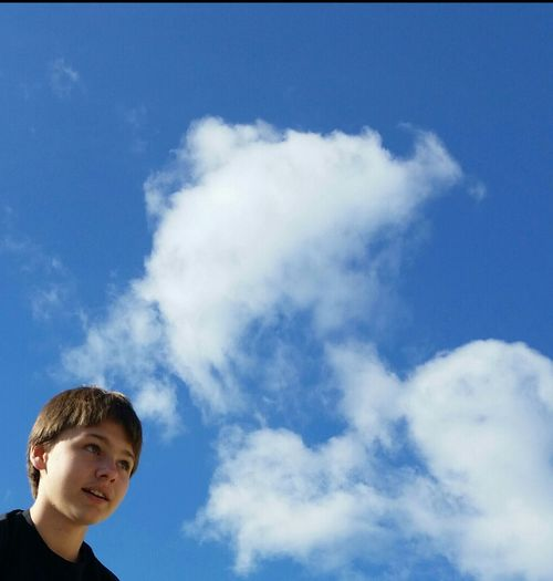 Teenager Pre Teens! Middle School Blue Sky Ohio, USA Showcase April Blue Wave Up Close Street Photography