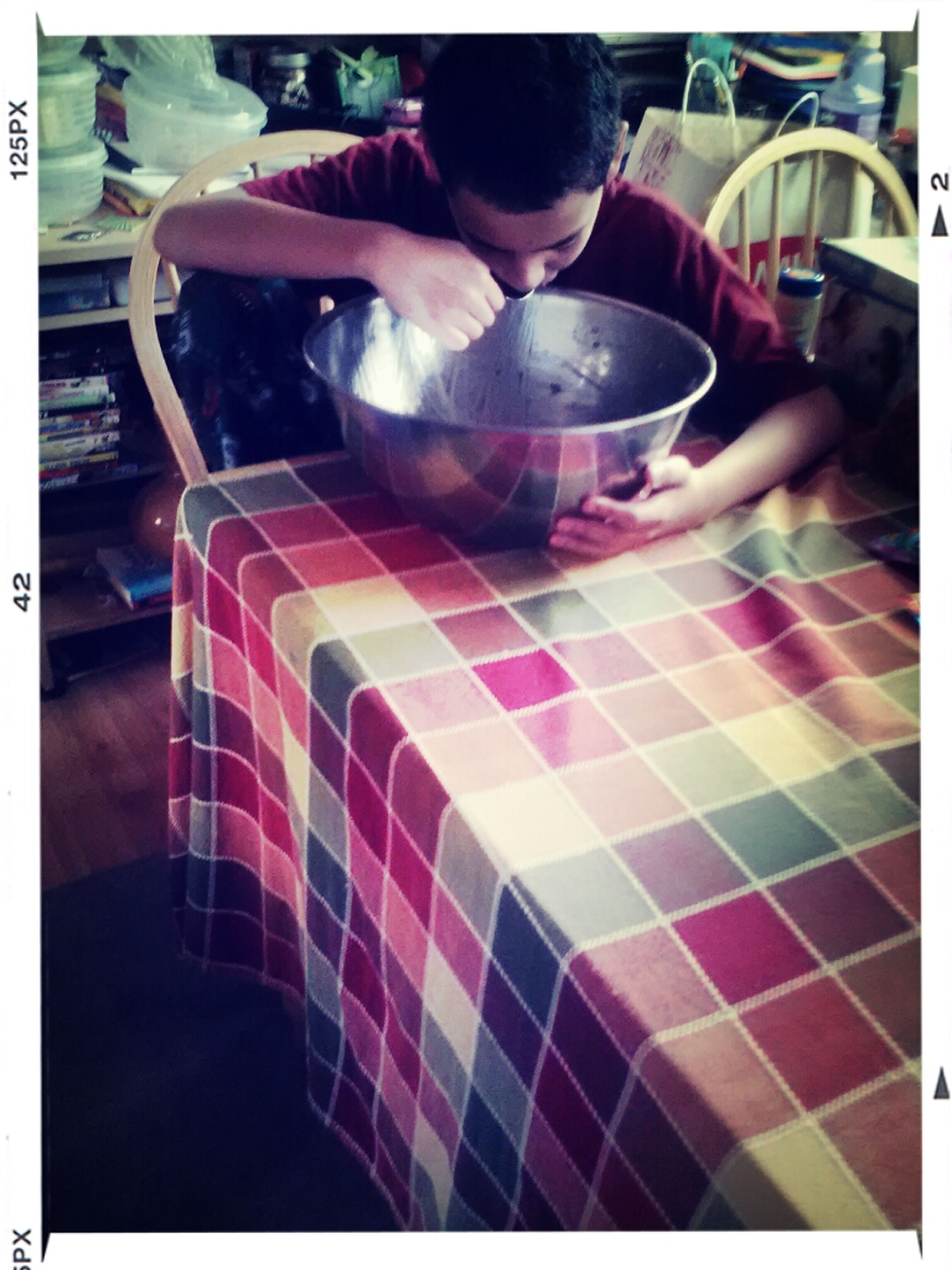 how my brother helps me bake