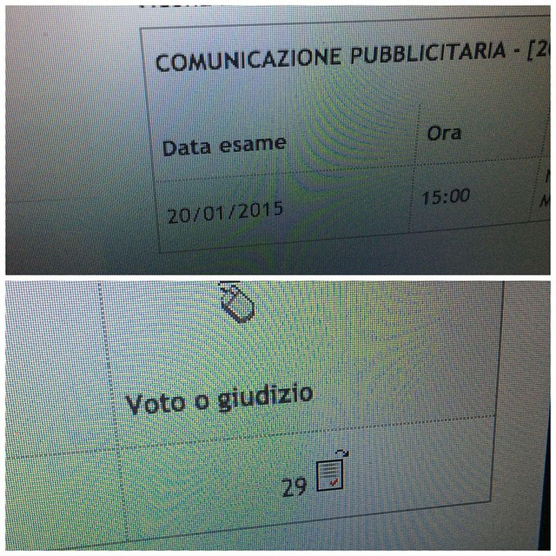 Primoesame Specialistica Romatre Lingue comunicazionepubblicitaria proudofme exam university masterdegree magistrale RomaUniRomaTre sosoddisfazioni