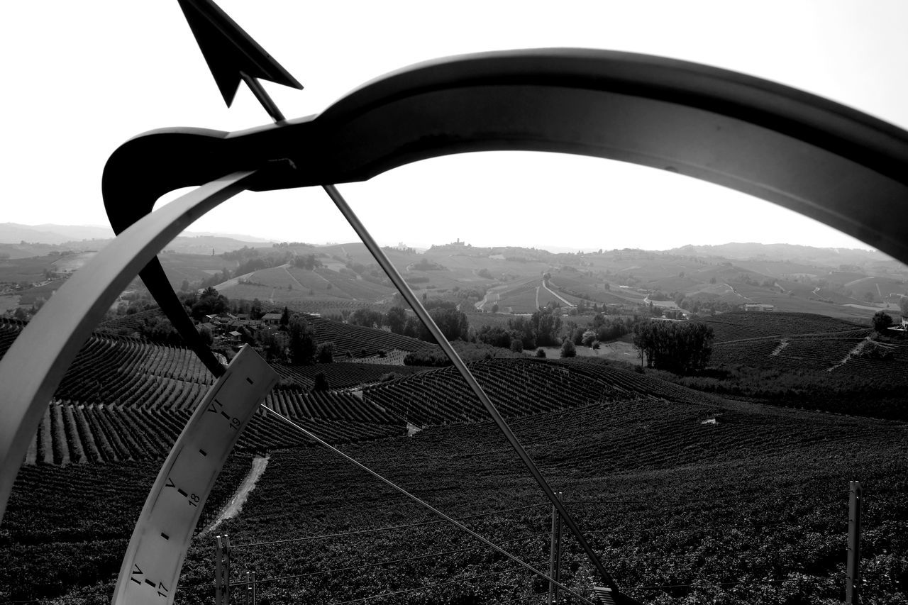 Arrow Sign Barolo Vineyards Barolo Wine Barolo Wineyards Black & White Black And White Blackandwhite Blackandwhite Photography Clear Sky Eye4photography  EyeEm Best Shots EyeEm Gallery EyeEmBestPics From My Point Of View Hillside Italy Landscape_Collection Monochrome Monochrome Photography Piemonte The Week On EyeEm Tranquility View Through Vineyards  Wine Tasting