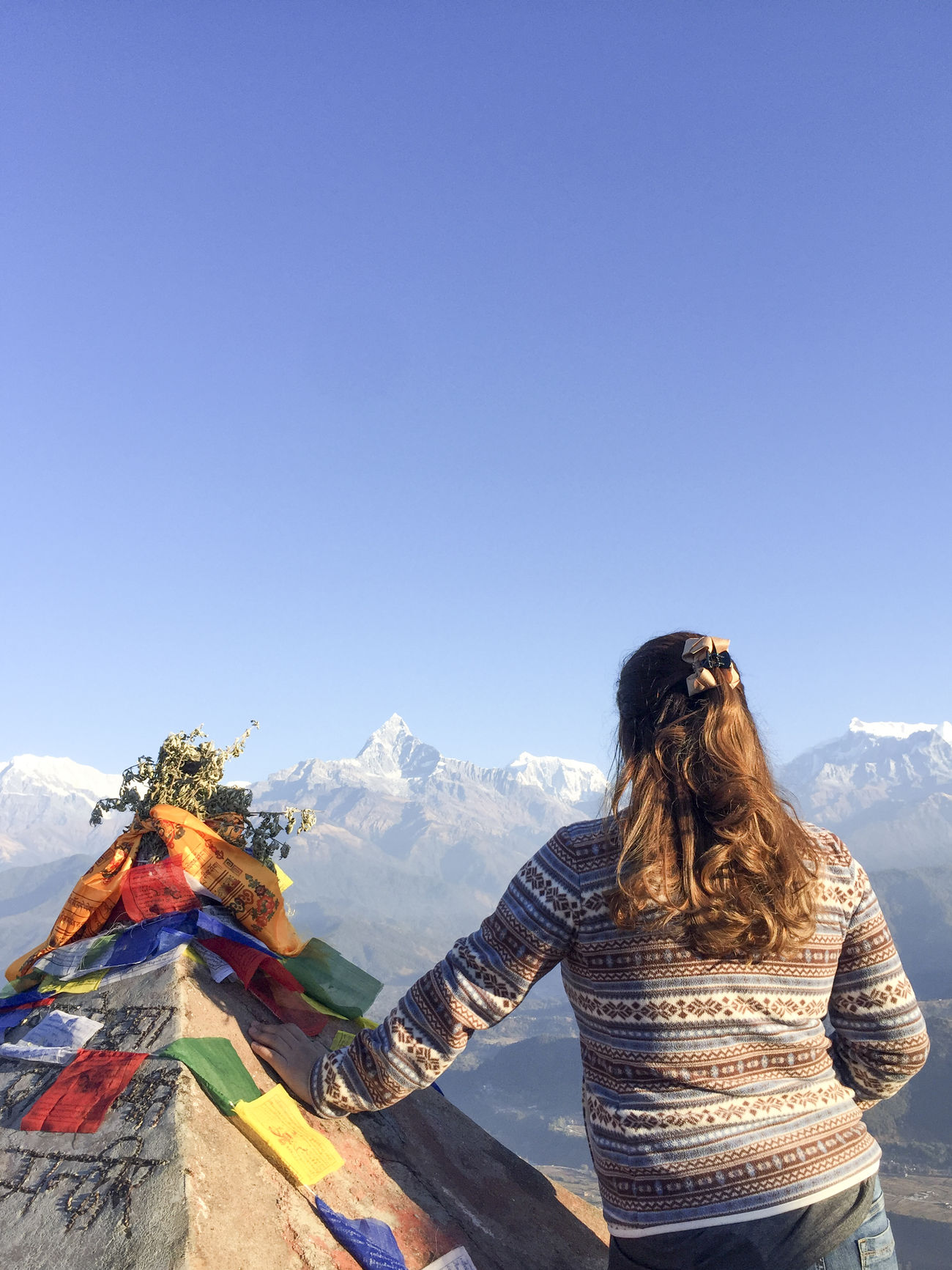 Beautiful stock photos of annapurna, clear sky, traditional clothing, outdoors, day