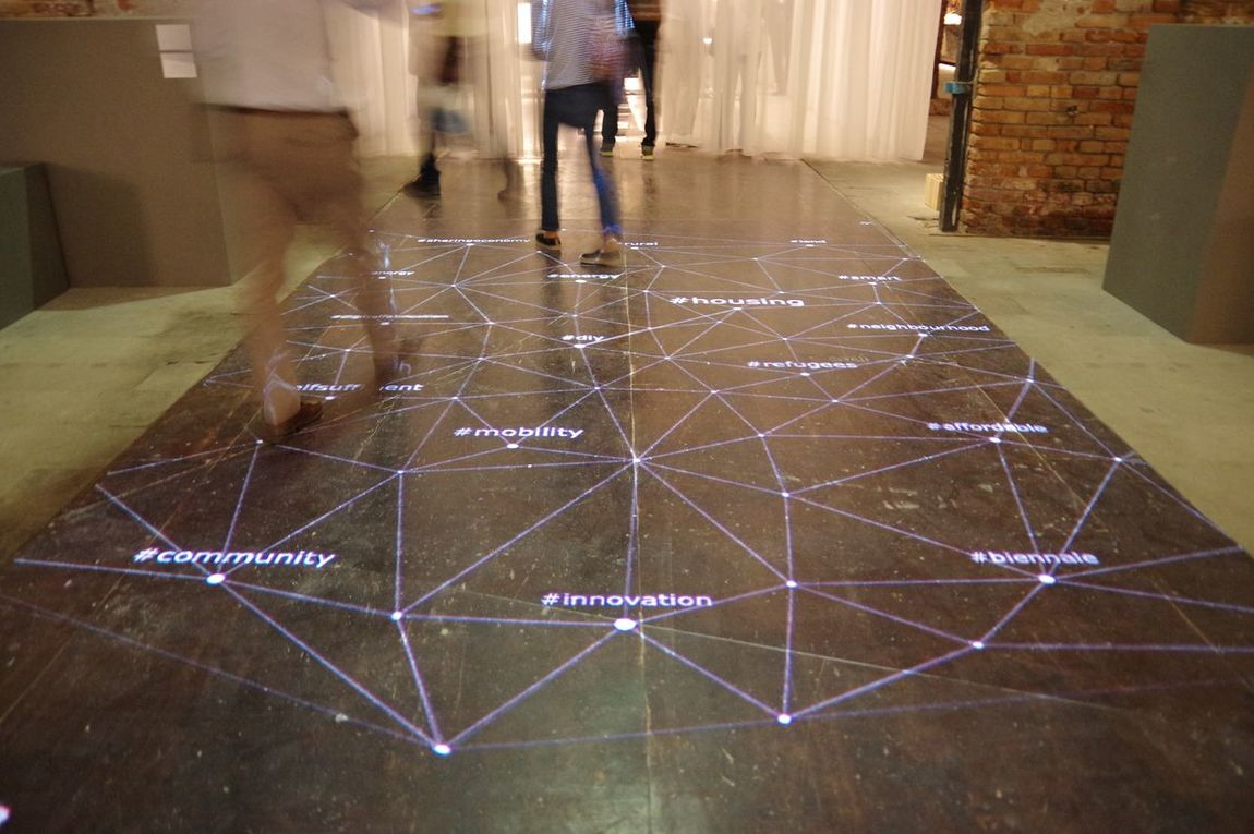 Biennale Architettura 2016 Venicearchitecturebiennale Light Pattern Movement Connect The Dots Diagram Walking Innovation Community
