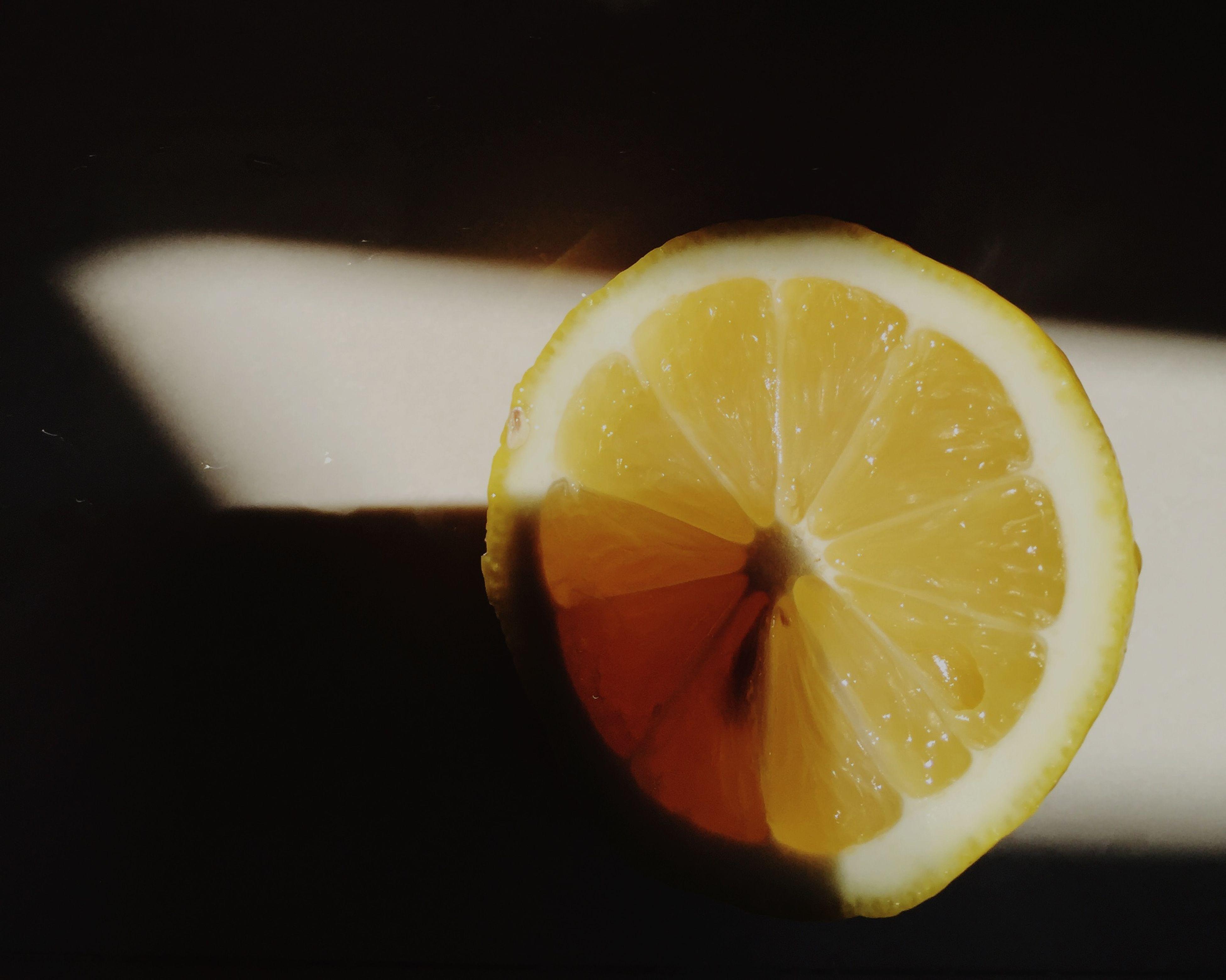 freshness, yellow, food and drink, fruit, close-up, food, healthy eating, indoors, still life, slice, studio shot, citrus fruit, orange - fruit, cross section, lemon, table, no people, orange color, halved, high angle view