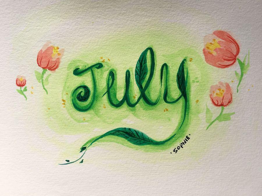 Sophiesart Watercolor Watercolor Painting July