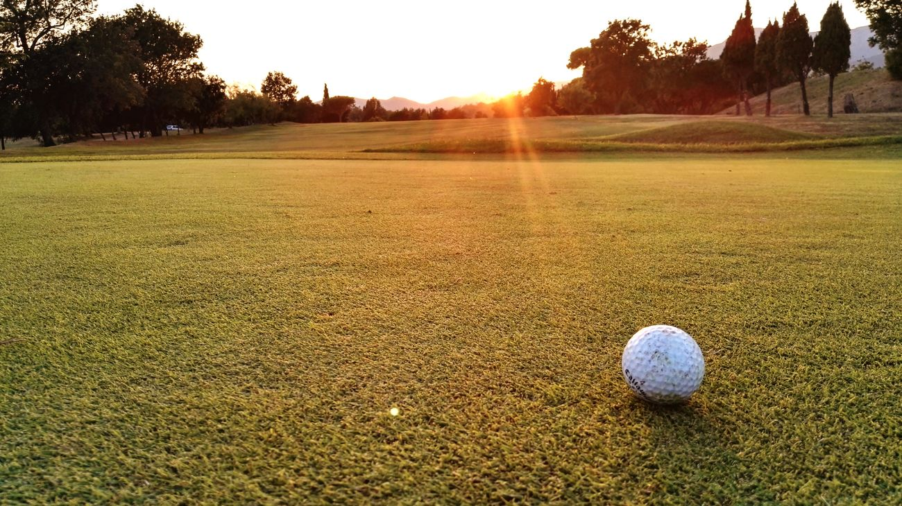 Golf Sunset lawn relax flare
