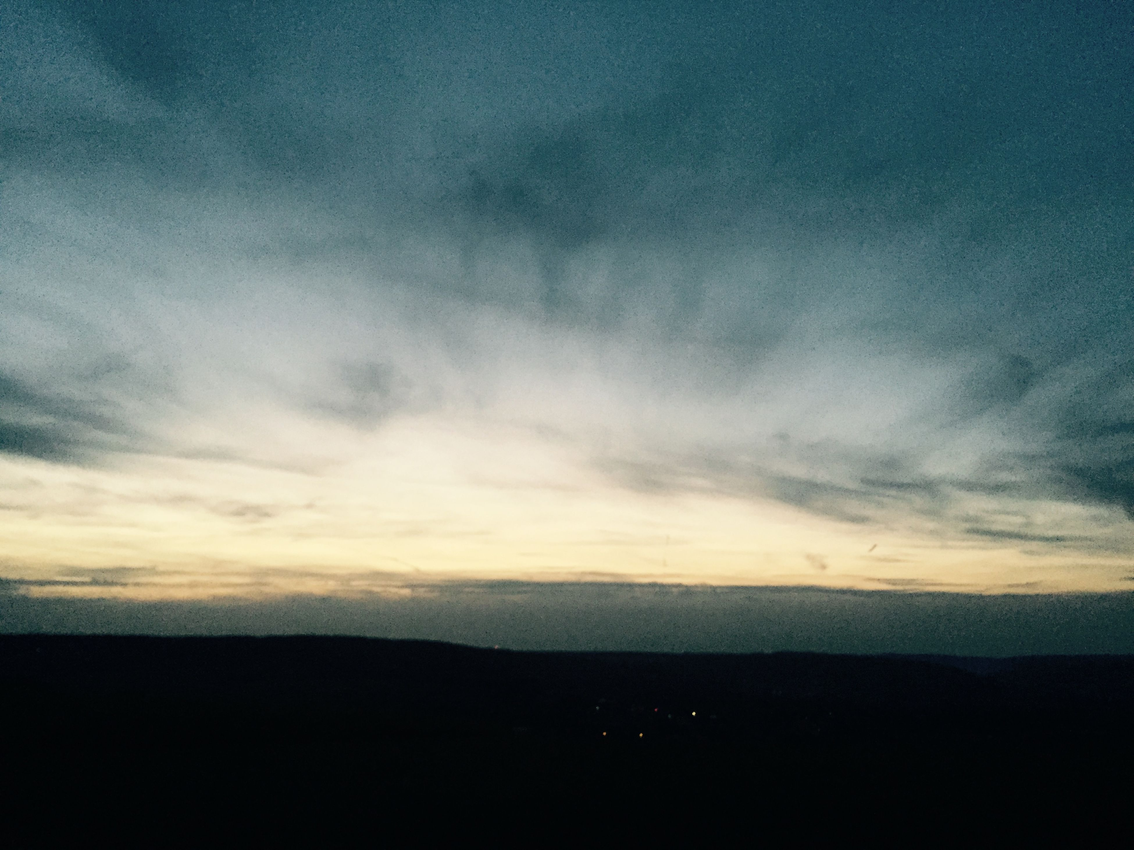 tranquil scene, scenics, tranquility, sunset, beauty in nature, sky, silhouette, landscape, nature, idyllic, cloud - sky, horizon over land, mountain, cloud, dusk, dark, non-urban scene, remote, copy space, outdoors
