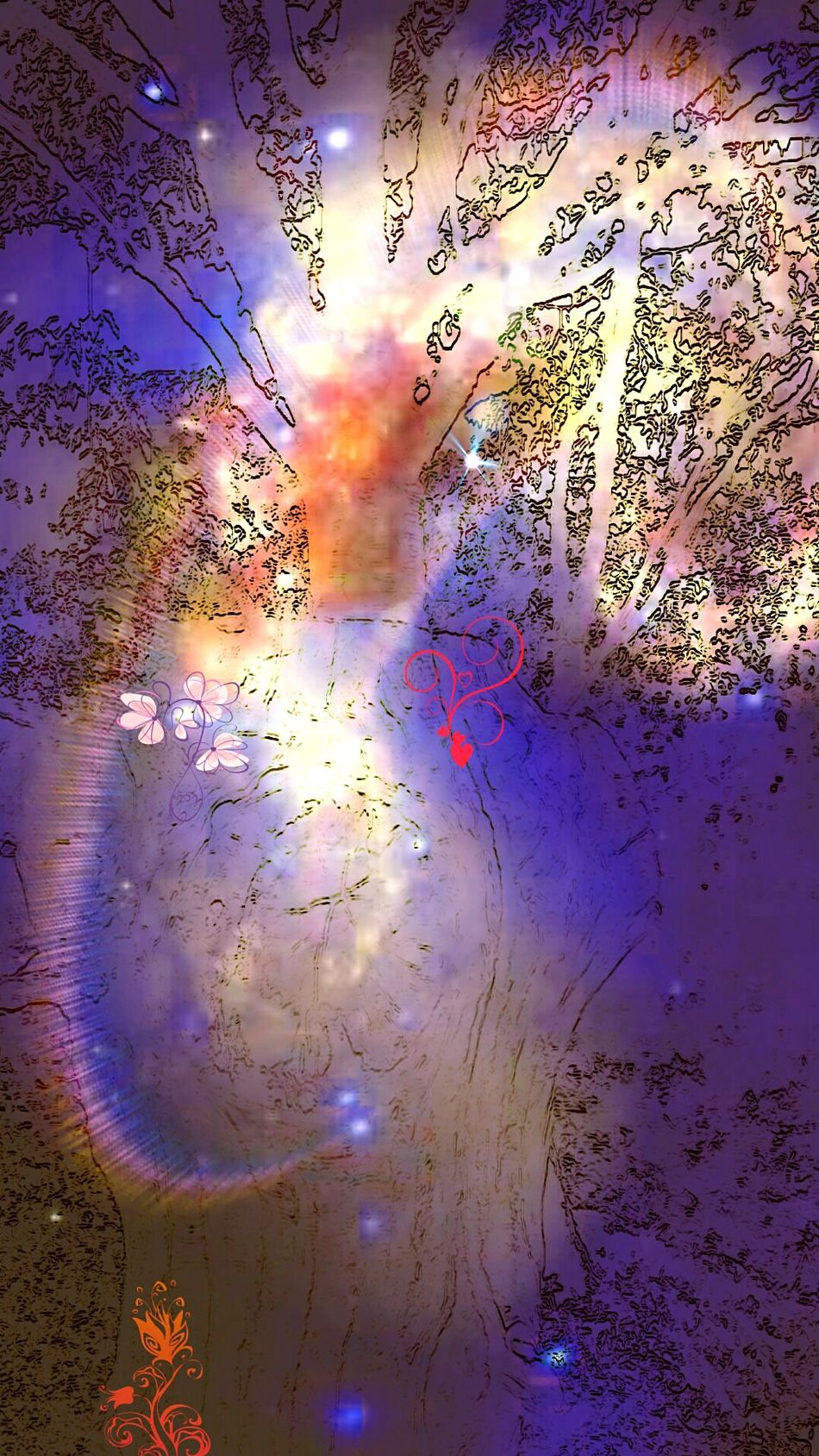 tree of hope in our imagination. in the dreams of our other side. the free one in the parallel time to ours. the tree of hope. love care and softness. the soul of the other us. you are the creator the builder and other person the shadow of you. let's care and keep our wonderful natural nature the mother of our we. in the dreamy life of me... People Life Love Night Lights Creation My Edition . Cheese! ArtWork Dreams And Dreams
