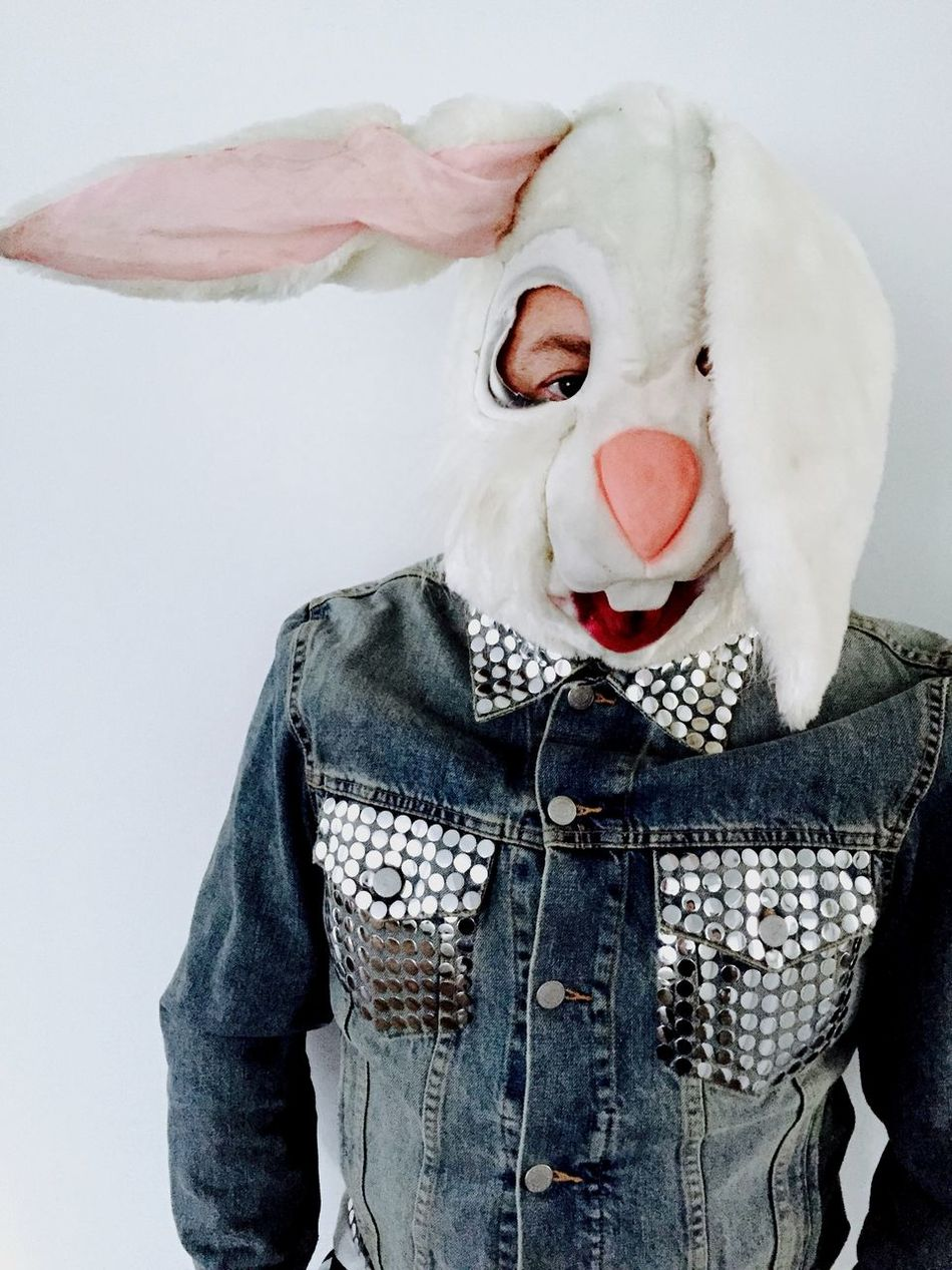 Beautiful stock photos of easter bunny, 45-49 Years, Animal Imitation, Casual Clothing, Color Image