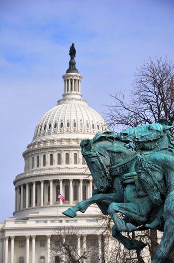 DC Capitol Building Architecture Capitol Building Capitol Building, DC DC Dome Horses Statue US Capitol Building Washington, D. C. WashingtonDC