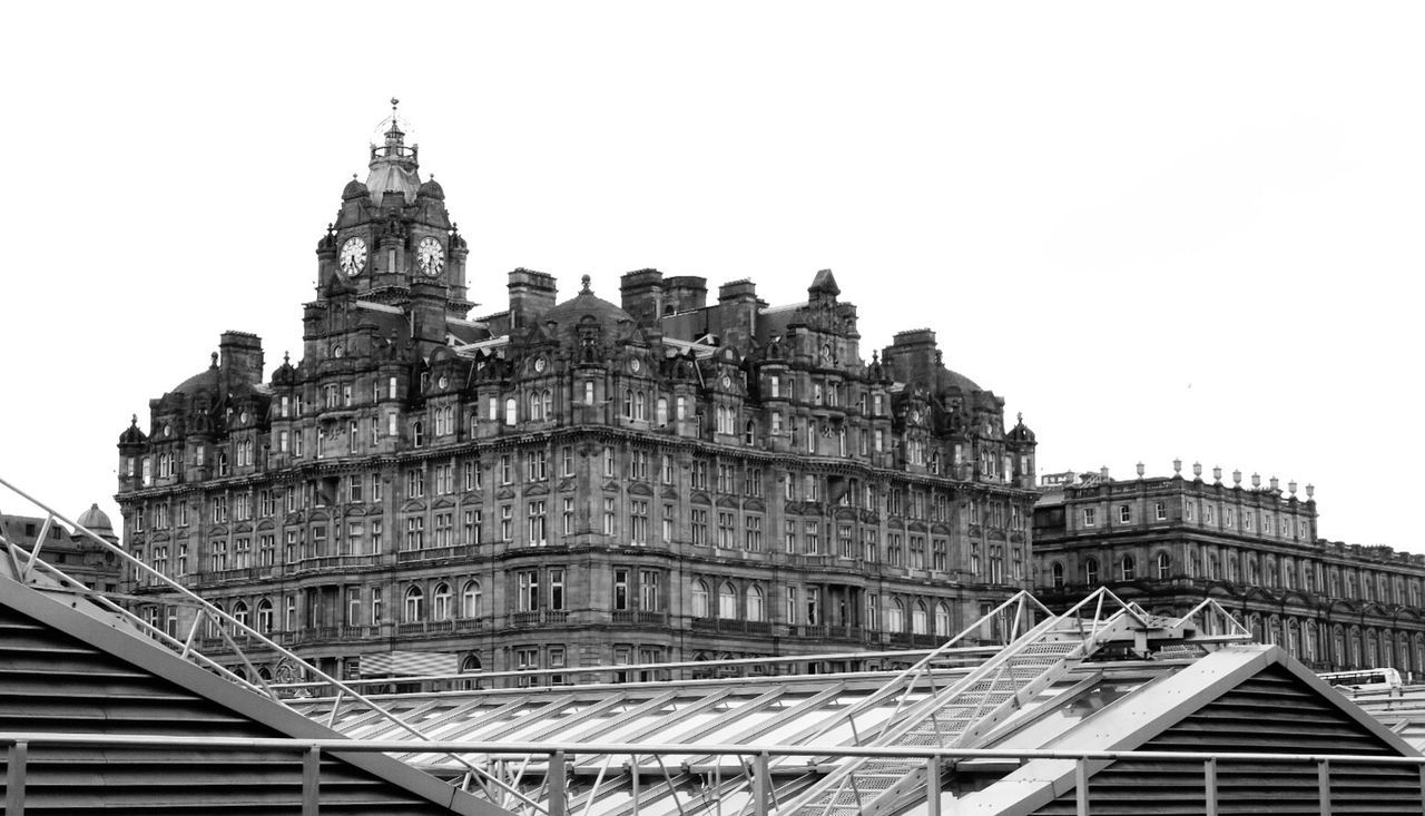 Edinburgh Architecture Built Structure Building Exterior Low Angle View Architectural Feature Travel Destinations Famous Place Tourism The Balmoral Hotel Black & White Blackandwhite Bnw Monochrome Mono