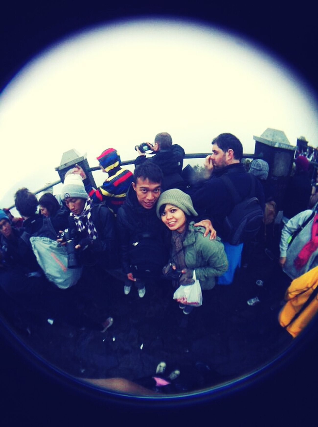 Morning Dawn Us Freezing Fisheye Tengger