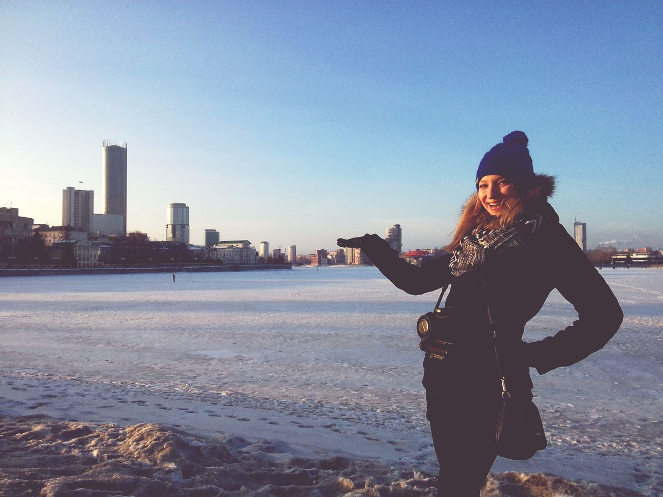 Ekaterinburg Blue Sky Russia Россия Smile Girl Smile ✌ Hi Russian Girl Beautiful Happy People