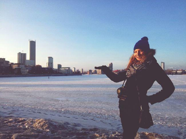 Ekaterinburg Blue Sky Russia Россия Smile Girl Smile ✌ Hi Russian Girl Beautiful Happy People